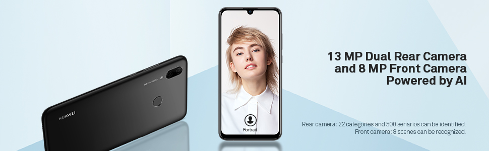 13mp dual rear camera and 8mp front camera powered by AI