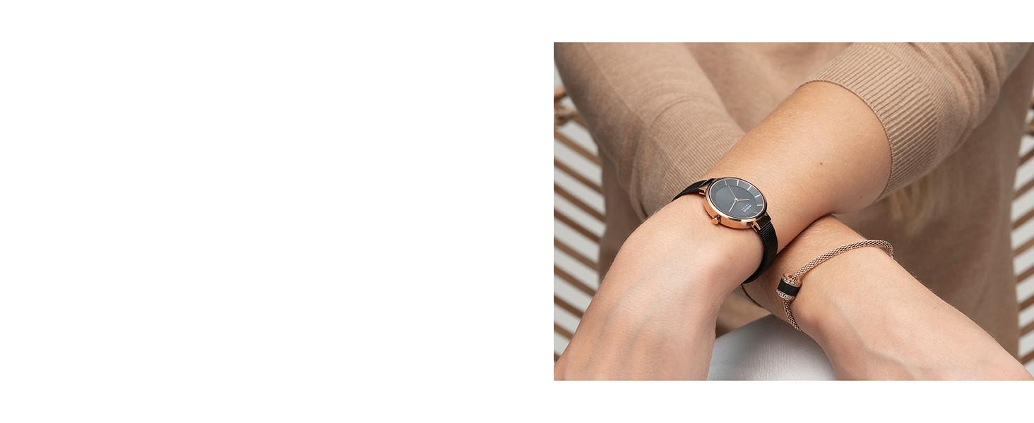 Bering watch Sapphire Glass Watch Slim Unisex Men Women Solar Behring Skagen Classic Design Watch