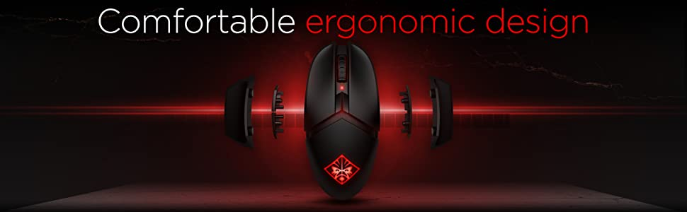 OMEN by HP Photon Wireless Mouse Ergonomic Design