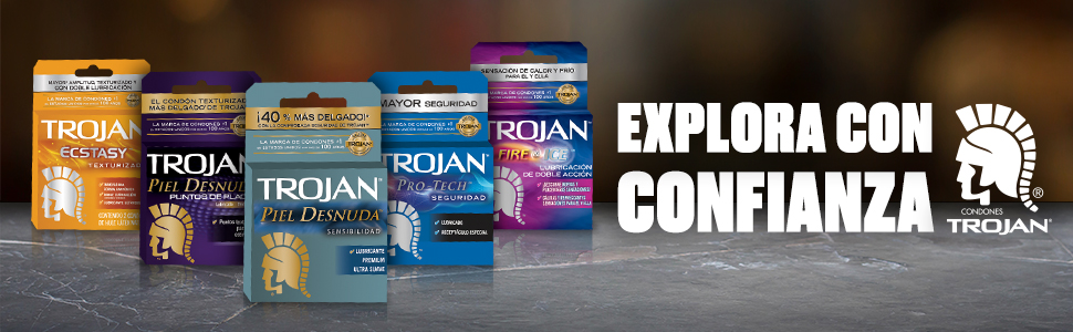 Trojan, piel desnuda, puntos de placer, ecstasy, fre and ice, troyan, trojano, troyano, condones