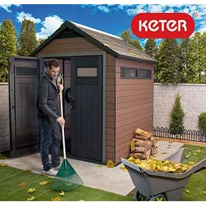 Keter fusion outdoor storage shed building