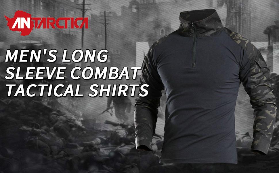 Antarctica shirt /à manches longues tactique t-shirt dassaut rapide militaire de larm/ée de combat rapide assault slim fit