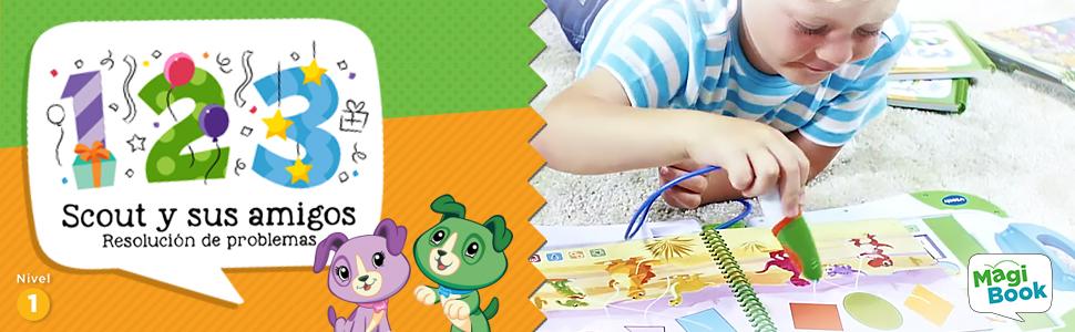 VTech- Scout y Sus Amigos Libro para Magibook, Multicolor
