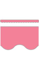 light pink Scalloped Border Trim