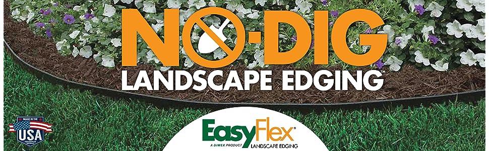 Dimex EasyFlex Plastic No-Dig Landscape Edging Kit, 100 ...