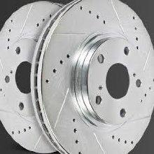 drilled and slotted brake rotor, performance brake rotor