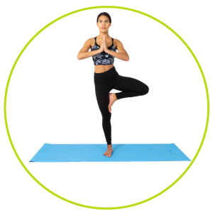 """Prosource Fit Classic Yoga Mat 1/8"""" (3mm) Thick, Extra Long 72-Inch Lightweight Fitness Mat with Non-Slip Grip for Yoga, Pilates, Exercise"""