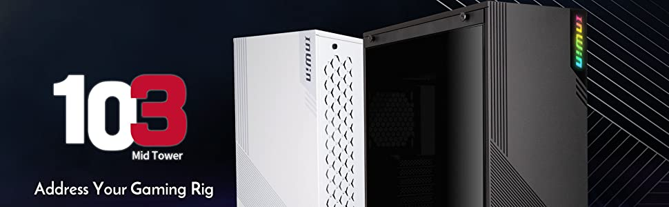 inwin, inwin 103 black, 103 black, pc chassis, gaming chassis, midtower