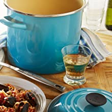 Le Creuset Stockpot shown in Caribbean