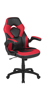 Flash Furniture X10 Gaming Chair PC Adjustable Swivel Chair with Flip-up Arms