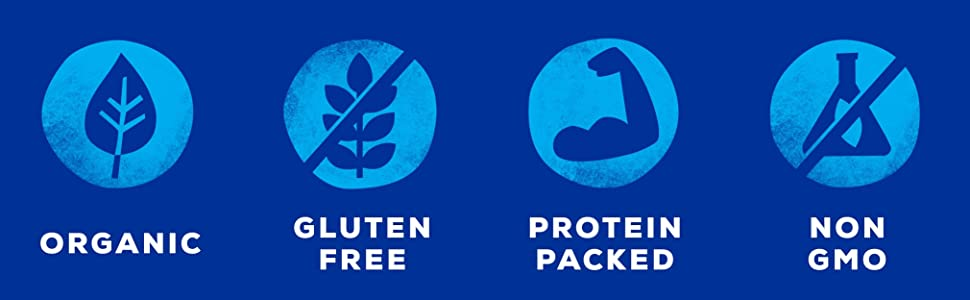 nutritional claims organic gluten free protein packed non gmo