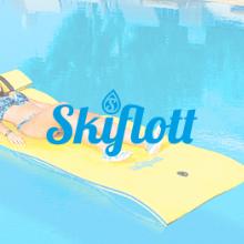 skiflott, mer, loisir, activité