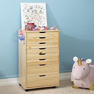 Grey Rolling Cart Linon Home Decor Products Corinne Eight Drawer Storage