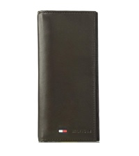 tommy hilfiger mens leather wallet front pocket magnetic clip