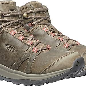KEEN Women's Terradora 2 Leather Mid Height Waterproof Hiking Boot tech info