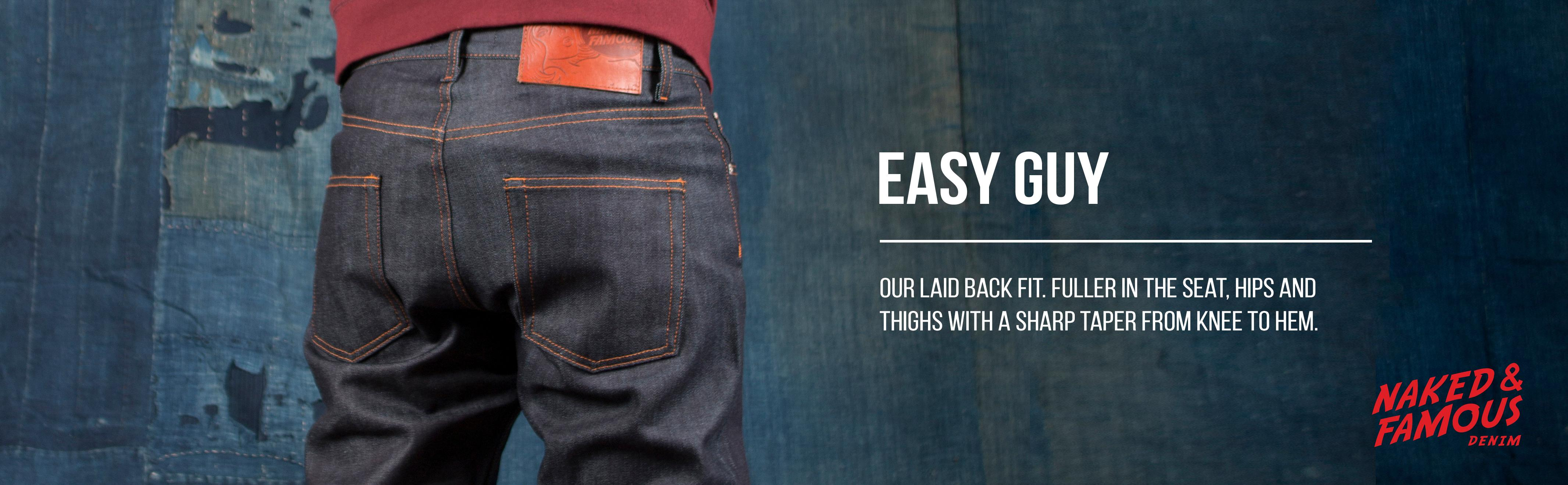 Naked & Famous Denim Mens Easy Guy Laid Back Fit Jean In