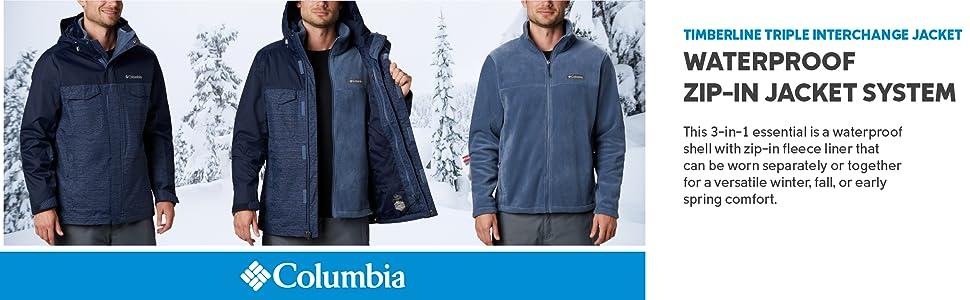 Colimbia Men's Timberline Triple Interchange jacket