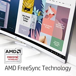 HP 34f Curved Display AMD FreeSync technology