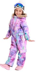 Bluemagic Little Kids One Piece Snowsuits Overalls Ski Suits Jackets Coats Jumpsuits Winter Outdoor Waterproof Snowboarding
