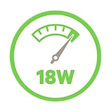 最大18Wの急速充電