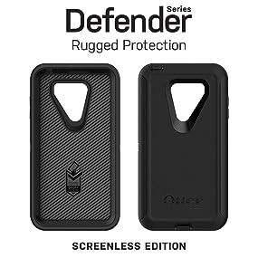 new arrivals 9ee85 df5d8 OtterBox DEFENDER SERIES SCREENLESS EDITION Case for LG V30 & LG V30+ -  Retail Packaging - BLACK