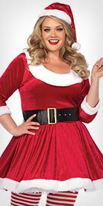 costume, plus size, santa, chistmas, holiday