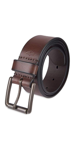 dockers mens leather belt roller buckle brown black