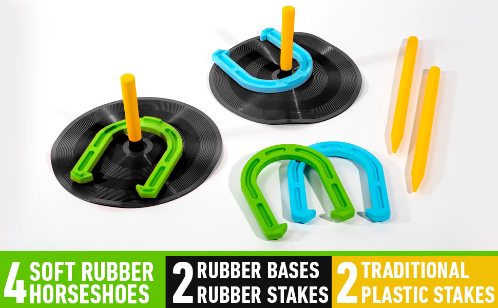 childrens horse shoes, franklin rubber horse shoes, franklin sports rubber horseshoes, horse shoe