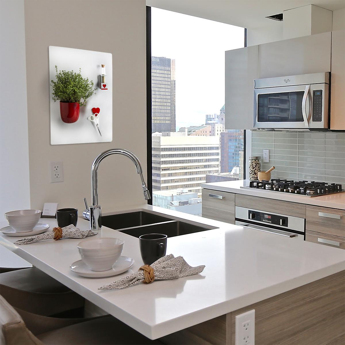 Kalamitica lavagna magnetica in acciaio scrivibile con - Lavagna magnetica da cucina ...