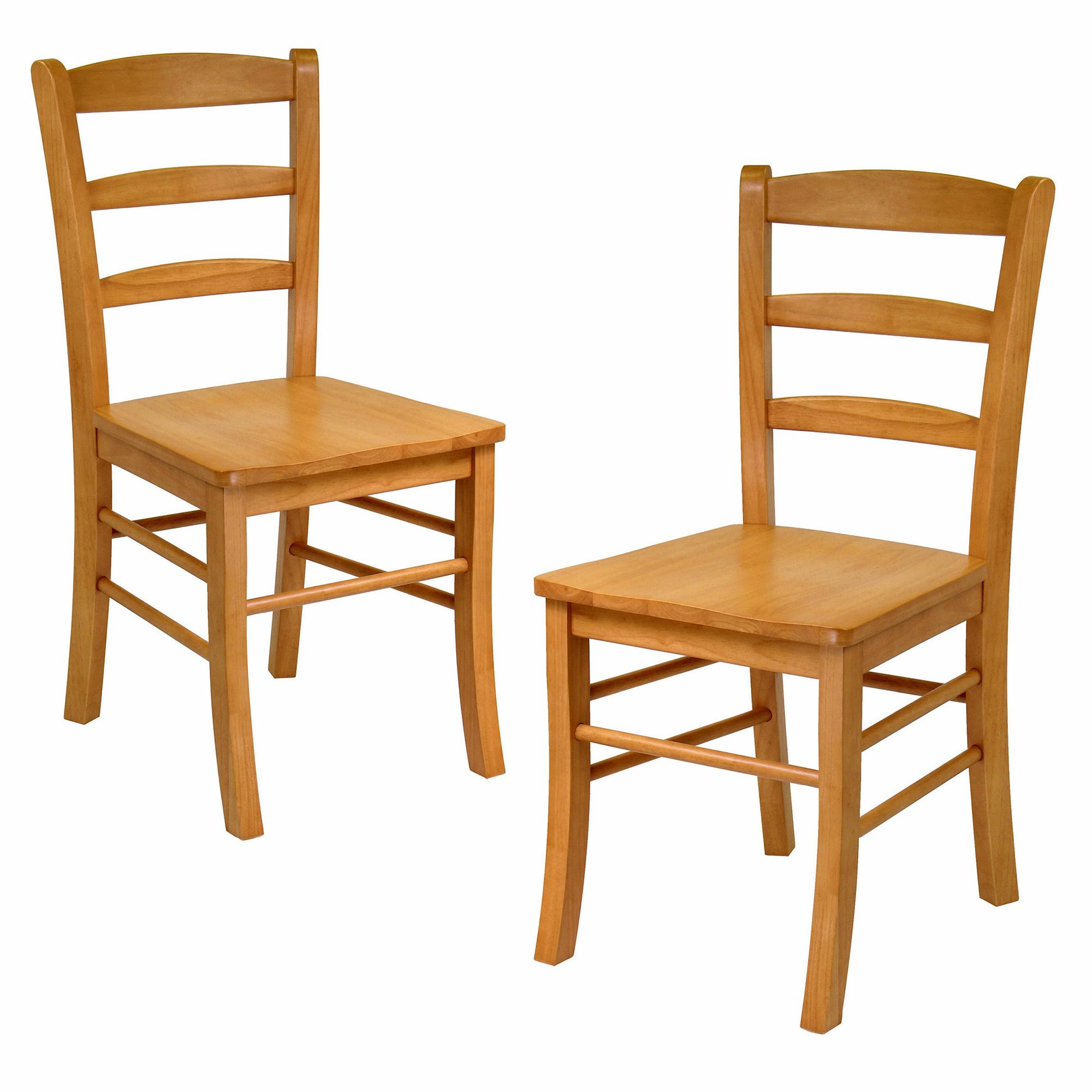 Chairs For The Kitchen: Amazon.com: Winsome Wood Ladder Back Chair, Light Oak, Set