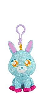 Doodle Bear The Original Clip-On Plush Toy - Blue Bunny
