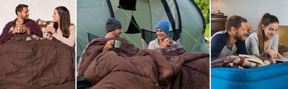 deken; slaaptas; trekking; dubbele slaapzak; single; katoen; winter; XXL; professioneel; mummie slaapzak