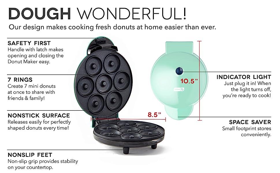 donut; mini; maker; dash; electric; easy;