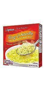 Lipton Soup Secrets Instant Soup Mix Ring-O-Noodle 4.9 oz
