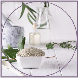 Brazilian kaolin white clay helps
