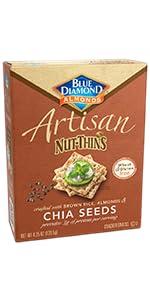 Artisan Nut-Thins Cracker Crisps, Chia Seeds