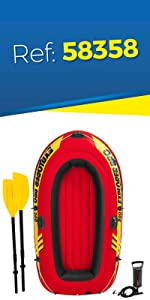 Intex 58356NP - Barca hinchable Explorer Pro 200 - 196 x 102 x 33 ...