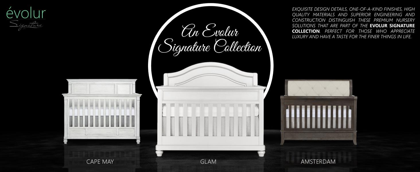 Evolur Signature Glam 5-in-1 Convertible Crib