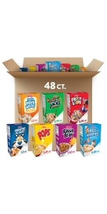 Kellogg's Breakfast Cereal, Single-Serve, Variety (48 Count)