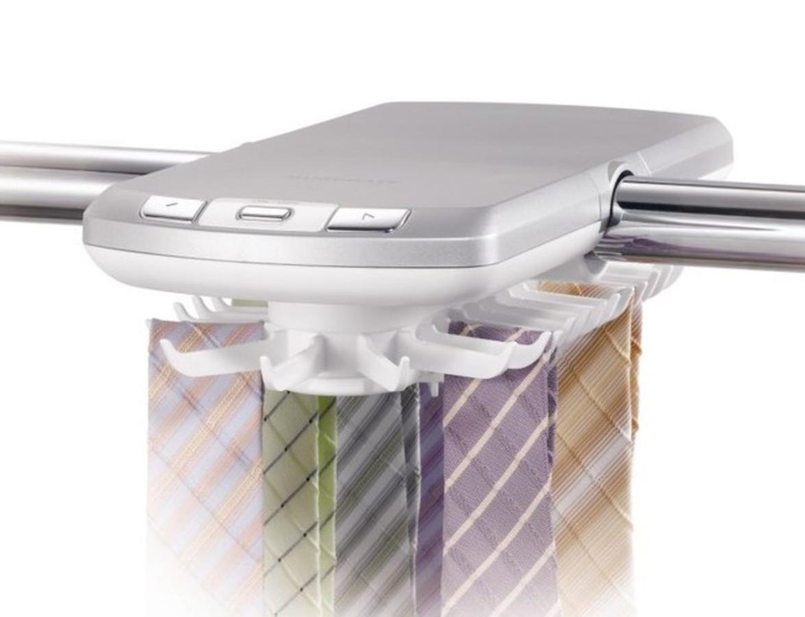 Outlook Design V963001510 Tie Rack Portacravatte Elettrico Girevole e con Luce LED