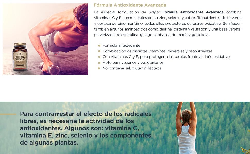 Solgar Antioxidante Avanzado - 30 Cápsulas: Amazon.es: Salud y ...