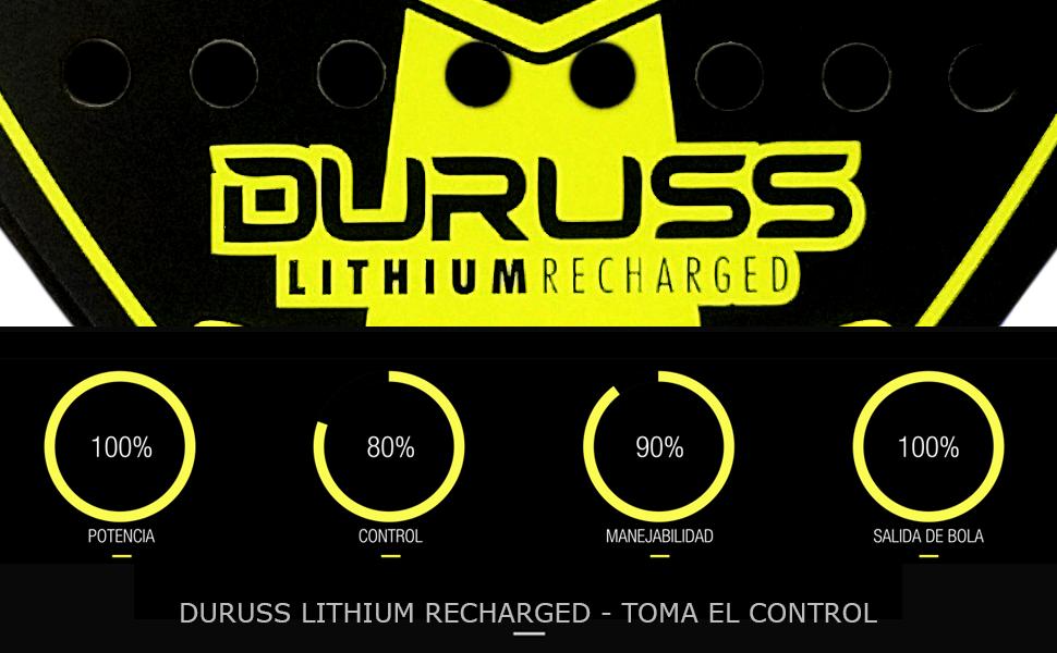 Duruss Avanzado Lithium Recharged Pala de Pádel, Adultos Unisex ...