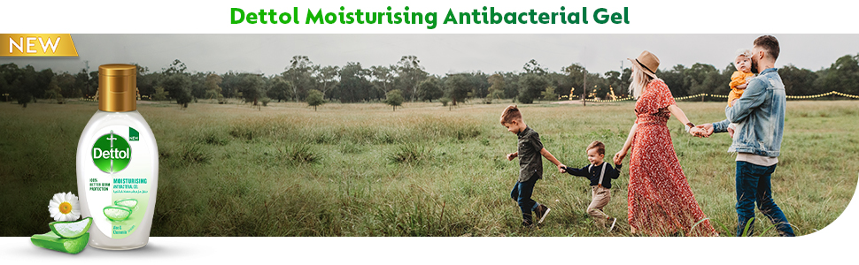Dettol Moisturizing AntiBacterial Hand Sanitizer 50ml