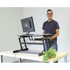 Amazon Com Rocelco Adr Standing Desk Height Adjustable