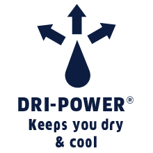 dri-power moisture wicking, dri-fit