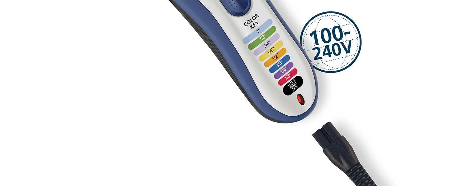 World Wide Voltage international use cordless rechargeable wahl color pro
