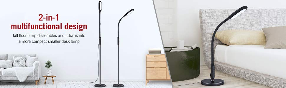 Floor Lamp Taotronics Dimmable Led Reading Standing Lamps