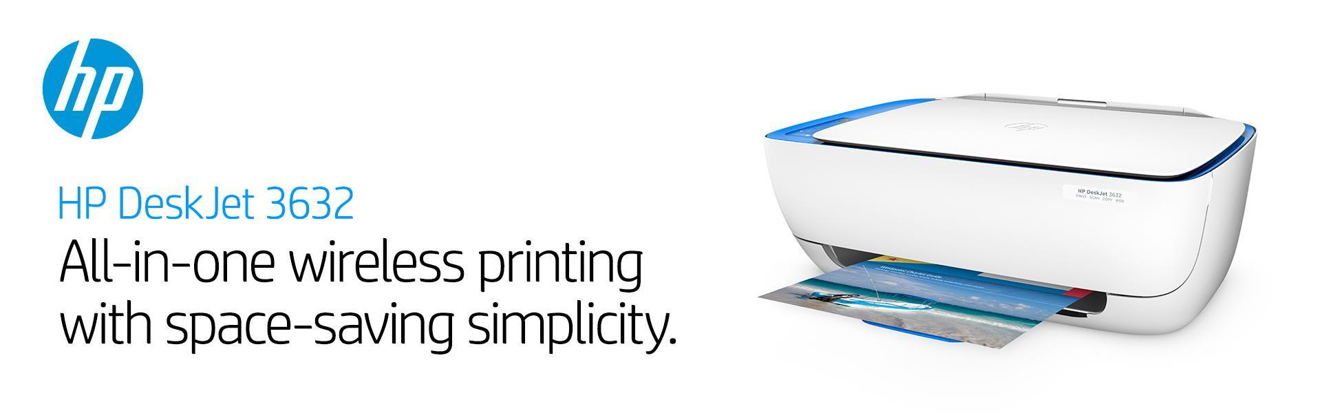 Admirable Hp Deskjet 3632 All In One Printer Super Efficient Little Home Interior And Landscaping Palasignezvosmurscom