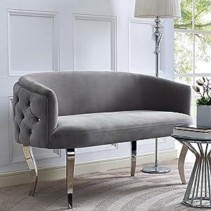 love seat velvet upholstered