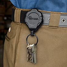 retractable keychain; retractable tether; heavy duty retractable keychain; key retractor; keychain